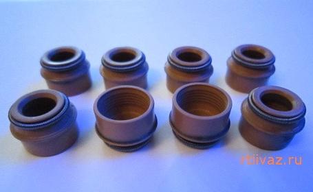 ваз маслоотражательные колпачки 8 клапанные, замена
