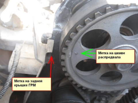 Camshaft pulley 8 valve Kalina 480x360 4 ЭТАПА ЗАМЕНЫ РЕМНЯ ГРМ КАЛИНА 8 КЛАПАНОВ
