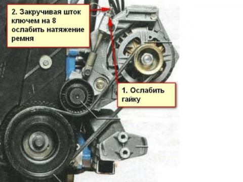 Установка ремня генератора 8 клапанной Калины