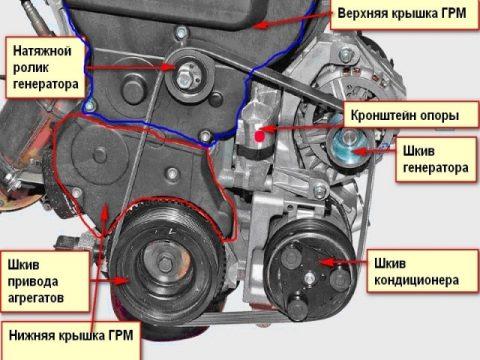 Ремень привода вспомогательных агрегатов Приоры